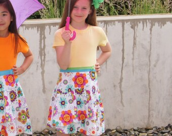 Yellow Top, Crew Neck, Girls Short Sleeve, Girls Cotton Top, Girls Mix and Match Clothing