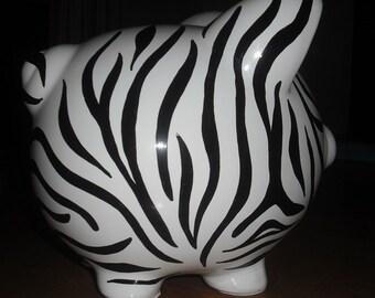 Zebra Piggy Bank