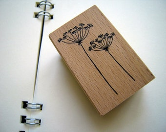 Pretty Japanese Flora Wooden Rubber Stamp (STP-028) for Cards, Invitations, Tags, Scrapbooking, Packaging, Party Favors