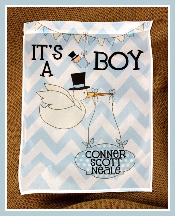 It's A Boy Garden Flag Personalized Baby Boy Baby Girl New Baby Gift, Baby Shower Gift, Personalized Outdoor Garden Decor Yard Garden Gift