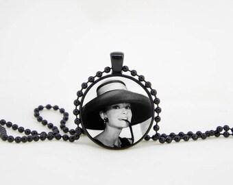 hepburn necklace,audrey necklace,audrey hepburn quote,hepburn pendant,audrey jewelry,paris necklace, audrey pendant, audrey hepburn party