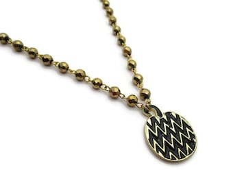 Black and Gold Pumpkin Necklace