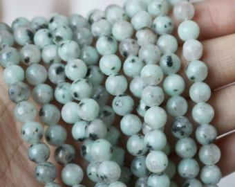 6mm Lotus Jasper Round Beads, Lotus Jasper, Lotus Jasper Beads, Jasper Beads, Jasper Gemstone Beads, Black Jasper,