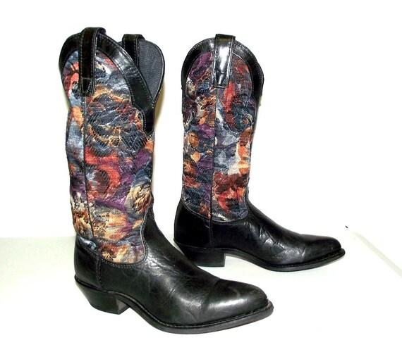 Blue brand boots western Tapestry fashion cowgirl Capezio xrqrFwYCO
