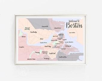 Boston printable Etsy