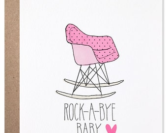New Baby Girl - Eames Rocking Chair