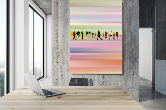 """Going To Work 5,  Art for Your Office, Office Wall Art, Pink Corporate Office Decor, Extra Large Canvas Art Print up to 72"""" by  Irena Orlov"""