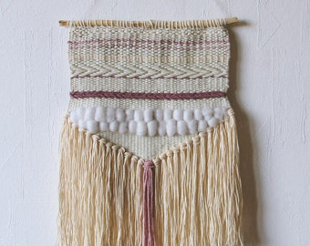 Woven Wall Hanging | Boho Style | Handwoven Tapestry | Neutral weaving | Nursery
