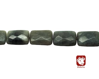 14x18mm Faceted Rectangle Labradorite Beads, Rectangle Labradorite, Labradorite, Labradorite Beads, Beads, Rectangle