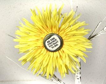 Be the Change Flower Hair Clip in Orange
