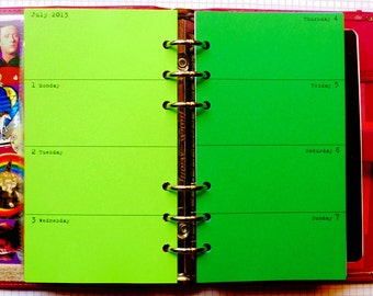 Horizontal Week on 2 Pages Planner Refill
