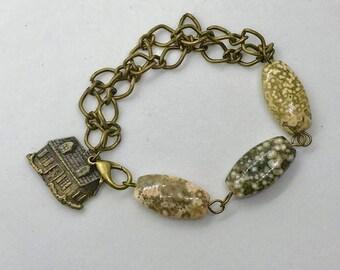 Metal and Stone Bracelet