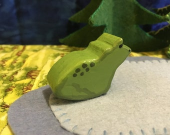 Handmade Wooden Frog - Waldorf/Montessori Inspired Toy