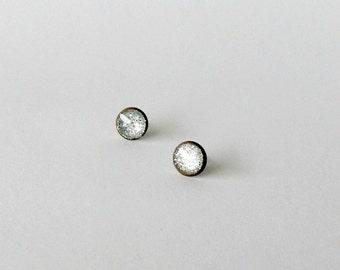 Silver stud earrings- Bronze studs-Simple Minimal Everyday jewelry- Summer earrings