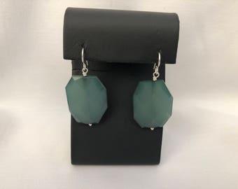 Ocean Earrings, Green Statement earrings, Green Dangle Earrings, Green Blue Earrings, Everyday Earrings, Bridal Earrings, Statement earrings