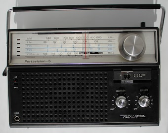 Realistic Portavision-5 Model No. 12-765 Portable Radio