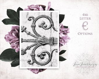 Letter E Photo | 4x6 Alphabet Photos | Architectural Photo Letters | First Anniversary Alphabet Art Designs | Just Married Table Sign