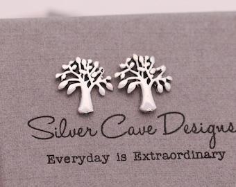 Sterling Silver Tree of Life Earrings|Tree of Life Earrings|Silver Tree of Life Earrings|Silver Tree Earrings|Tree Earrings|Gift for Her