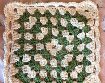 Traditional granny square washcloth