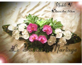cover composition car wedding Orchid colors available to customize model A