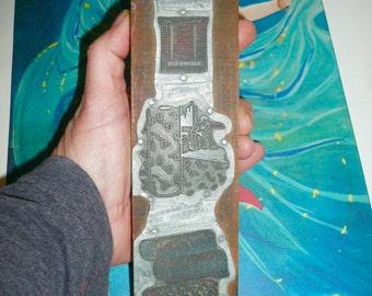Vintage Letterpress Wood Block Advertisement Rug Carpet Windows Printmaking Supplies