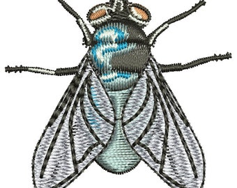 realistic fly Machine Embroidery Designs INSTANT DOWNLOAD