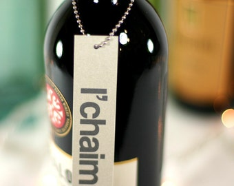 l'chaim. wine tags