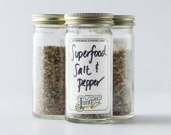 Superfood Salt & Pepper Blend - with savory superfood seeds