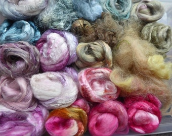 Hope Jacare - Hand dyed speciality fibre pack -  approx 100g mixed plant/speciality fibres - PLF68