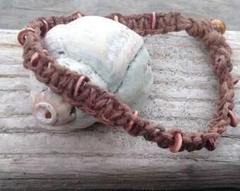 The Sea Rose hemp bracelet