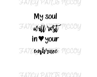 My soul will rest in your embrace SVG