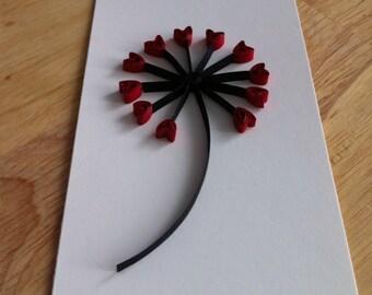 Floral 'Love' Flower tag