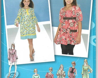 Simplicity | 3546 | Girls' / Girls' Plus Dress or Mini-Dress | Uncut and Factory Folded