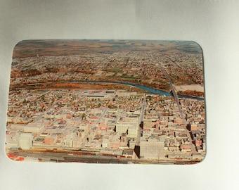 Downtown Calgary 1953 Postcard / Calgary Alberta Postcard / Calgary Postcard with stamp Dextone / Early Calgary / Vintage Calgary Souvenir