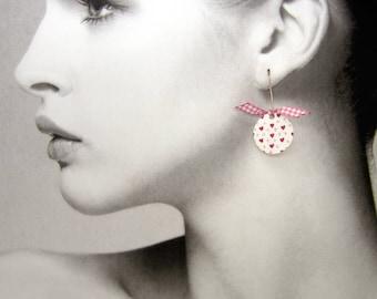 Mini Pink Hearts - collection Mofo Mofo earrings