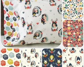 Organic Pillowcase, Organic Bedding, Organic Standard Pillowcase, Tall Tales, Floral Pillowcase, Custom Pillowcase, Pillowcases, Pillow Case