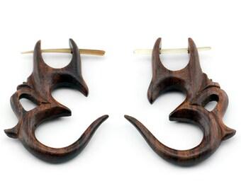 Sono Wooden Om Post Earrings