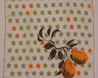 Vintage Designer Faith Austin Yellow Pear Hankie