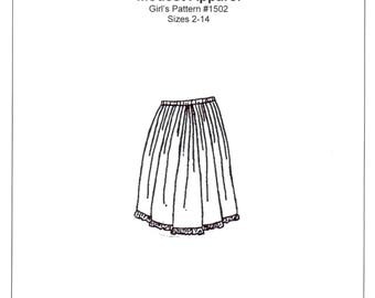 Girls Petticoat / Half Slip Sewing Pattern - by The King's Daughters - #1502