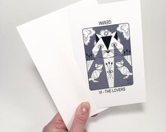 VI The Lovers (Gemini) Blank Greeting Card