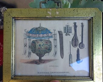 Small vintage musical instrument wall hanging