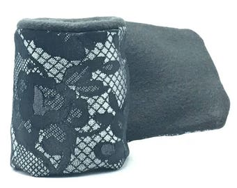 Black Floral Tail Bags for Horses, Ponies, & Equines