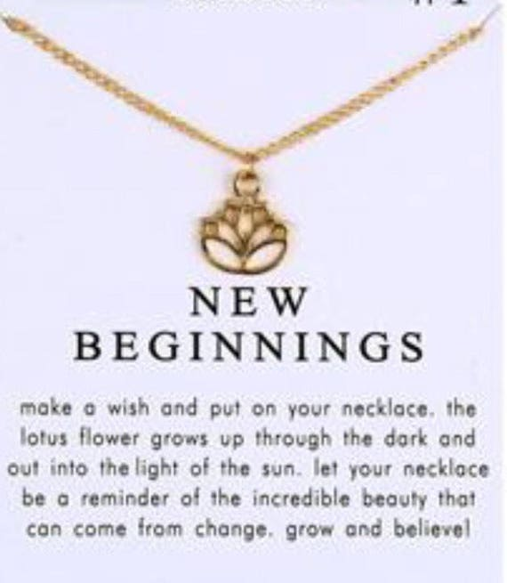 Lotus blossom new beginnings necklace gold color mightylinksfo