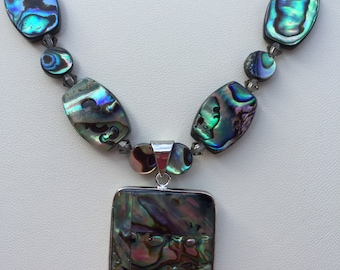 Abalone Shell Necklace with Pendant