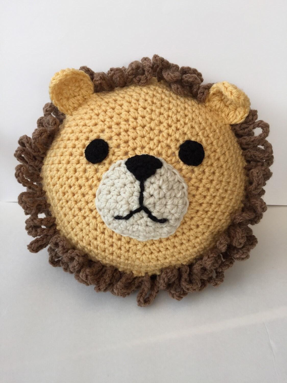 Häkelkissen Löwe