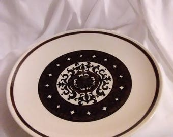 Vintage.Plate. Some swirled design