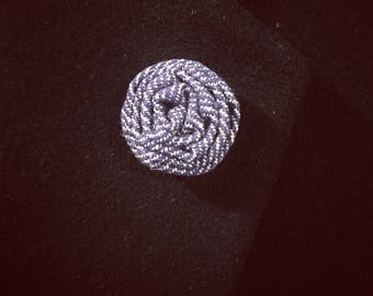 Flower Lapel Pin (Denim)