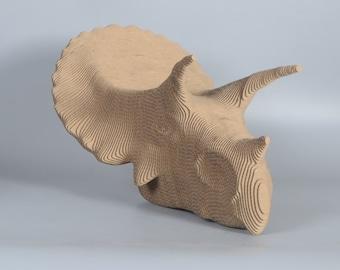 Triceratops Head  - DIY Cardboard Craft