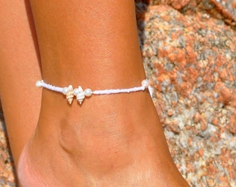 Beach Wedding Anklet | Bridal Anklet | Ankle Bracelet | Rustic Wedding | Foot Jewelry | Destination Wedding | Beach Jewelry | Boho Wedding