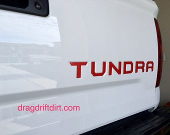 2014-2017 Toyota Tundra Tailgate Letter Inserts Very High Quality and Made in the USA